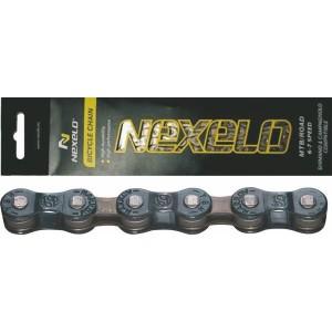 Łańcuch MTB S50, 116 ogniw,6-7 rzędowy, rozmiar 1/2 x3/32 cal , ciemnoniebiesko/brązowy