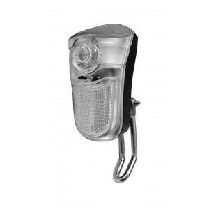 Lampa przód bateryjna 1 Super Jasna diod. LED,  2 funkcyjna,  podłużna montowana na widelec, zasilanie 2 x AA