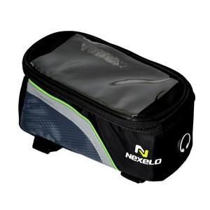 Torba na ramę,kieszeń PVC SAMARTPHONE,na paski,wym:18,5x8,5x8,5cm,czarno-ziel.