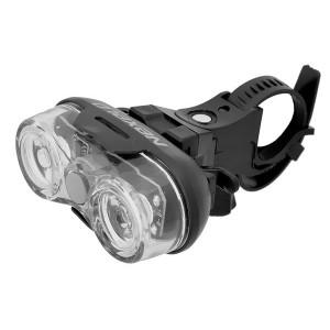 Lampa bateryjna przód,2LED-0,5W-3f,wodoodporna,zawiera baterie