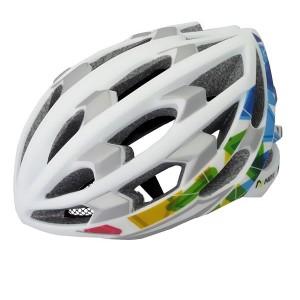 Kask rowerowy PRO, tech. in-mold, siatka, kolor: biały, roz M:55-58cm