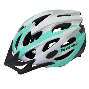 Kask rowerowy Straight, tech. out-mold,kolor: biało-nieb, roz M:55-58cm