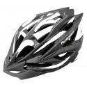 Kask rowerowy FLOW, tech. in-mold, siatka, kolor: czarno-biały, roz M:55-58cm