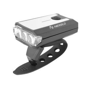 Lampa akumulatorowa przód, 3 LED-2f, Micro-USB