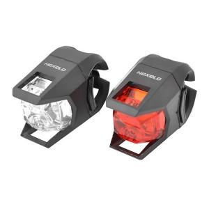 Zestaw lamp bat.: przód: 1 LED-3f., tył 1 LED-3f. ,zawiera baterie