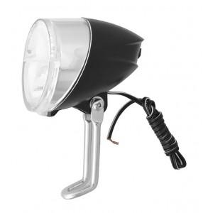 Lampa przednia na prądnicę, 1 LED, z podtrzymaniem świecenia