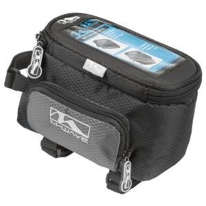 Torba na ramę, z kieszenią boczną, PVC pod Smartph.,na paski,wym:16x11x13cm,czarno-szary