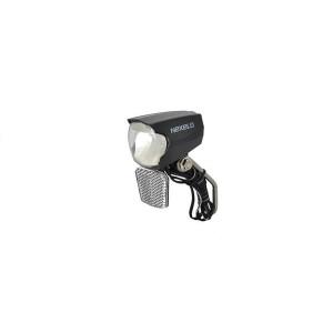 Lampa przód, prąd,reflektor,czujn zmierz,na widel,6W/2.4W lub 3W, 30 LUX, 2 wyjścia