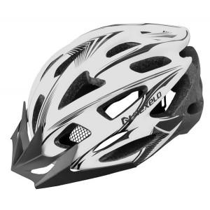 Kask rowerowy XLINE, L (58-60cm),out-mold,siatka,biało-czarny