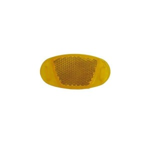 Odblask szprych,plast.,owalny, pomarańczowy, opak. 2 szt
