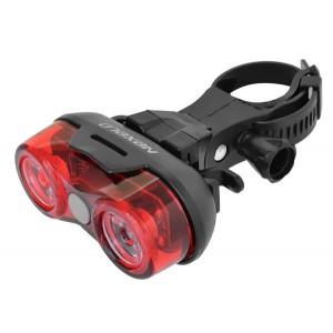 Lampa bateryjna tył,2LED-0,5W-2funkcje,wodoodporna,zawiera baterie