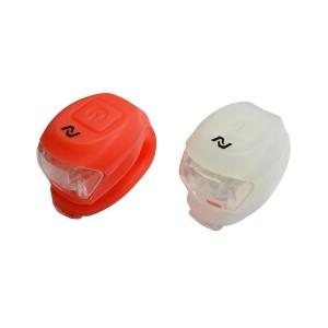 Zestaw lamp bat.:przód 2 LED-2f.,tył:2 LED-2f,z silikonu,zawiera baterie [PROMOCJA]