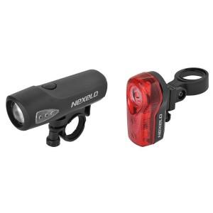 Zestaw lamp bat.:przód 1LED-1W-3f, wodoodporna,tył:1 LED-3f, zawiera baterie