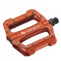 Platform pedals, alloy, three bearings, orange, 416g