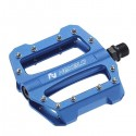 Platform pedals, alloy, three bearings, blue, 416g