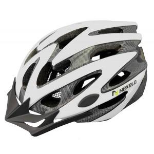 Kask rowerowy Straight, tech., out-mold, kolor: biały, roz M: 55-58cm [PROMOCJA]