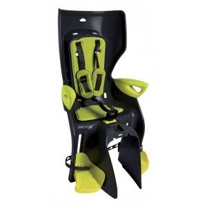 Fotelik SUMMER CLAMP, na bagażnik, czarno-żółty o wysokiej widoczności