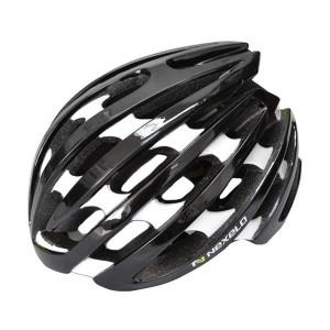 Kask rowerowy NEX-PRO, tech: in-mold, siatka, czarno-biały, roz:L (58-61cm)