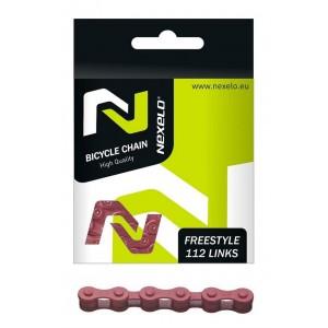 Łańcuch zwykły S410H, 112 ogniw,1-rzędowy,  rozmiar 1/2 x1/8 cal ,czerwony
