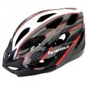 Kask rowerowy CERES, tech: out-mold,siatka, kolor: biało-szaro-czerwony, roz: M (55-58cm)