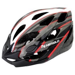 Kask rowerowy CERES, tech: out-mold,siatka, kolor: biało-szaro-czerwony, roz: L (58-61cm)