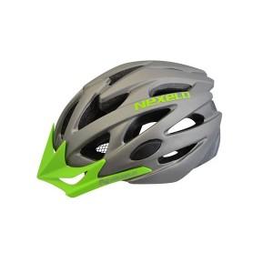 Kask rowerowy Straight MATT, out-mold,szaro-zielony, roz: M (55-58cm)