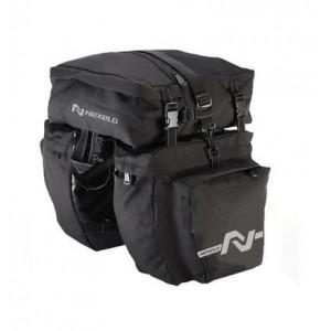 Sakwa 3 komorowa na bagażnik,materiał 1000 D,37 l, czarna