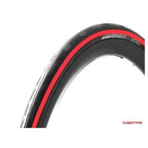 Opona 700x25 25-622 NITRO 2 -dr- dętkowa 33TPI czarno/czerwona