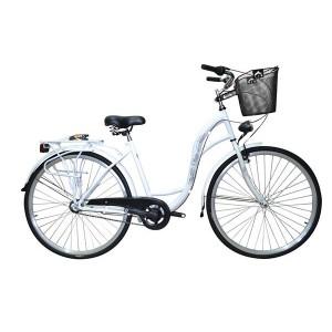 """Rower, damski Oliwia - 28"""", rama stal, 3 biegowy NEXUS, k. stożek, kolor biały"""