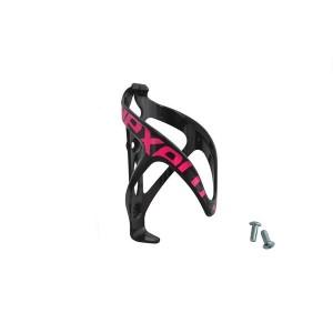 Koszyk bidonu plastikowy, montowany na ramę rowery na śruby, kolor czarno-różowy